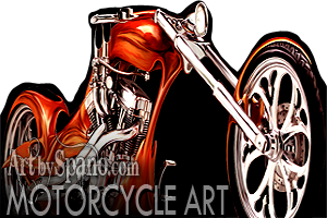 Motorcycle Club and Biker Art
